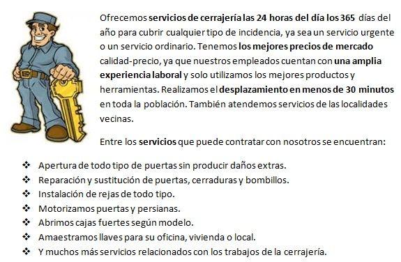 Cerrajeros Pinseque 24 horas urgentes